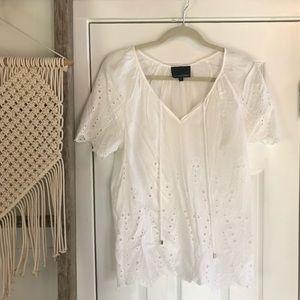White Lace Cynthia Rowley Blouse